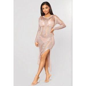 NWT Beach Cover Up Dress S - Rose Gold